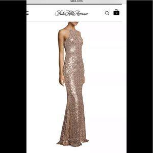 Badgley Mishka  Cowl Back Evening Gown Dress 0